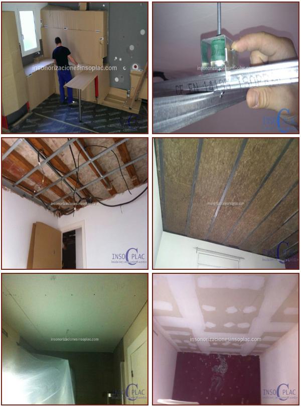 Insoplac insonorizar techo for Yeso laminado precio